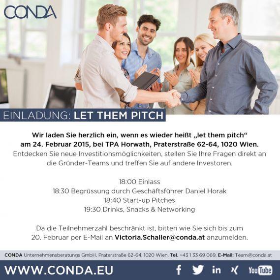 crowdfunding einladung pitch event