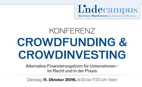 konferenz crowdivesting crowdfunding conda