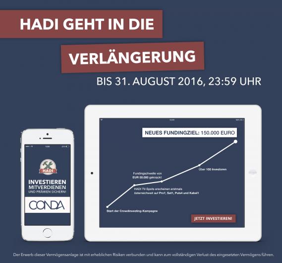 Crowdfunding HADI App Heimwerker