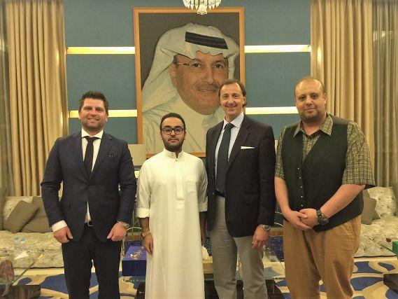 LCT trifft His Highness Prince Abdulaziz bin Khalid Bin Abdullah Royal Palace Jedda...