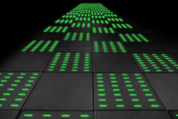 Grüner Lichtbeton des Crowdinvesting-Projektes LCT