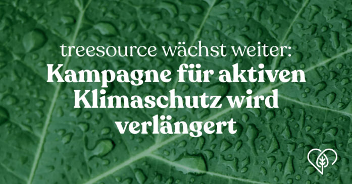 Treesource: Kampagne für den aktiven Klimaschutz wird verlängert