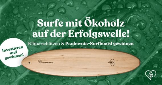 Gewinnen Sie ein Surfbrett aus Paulownia-Holz