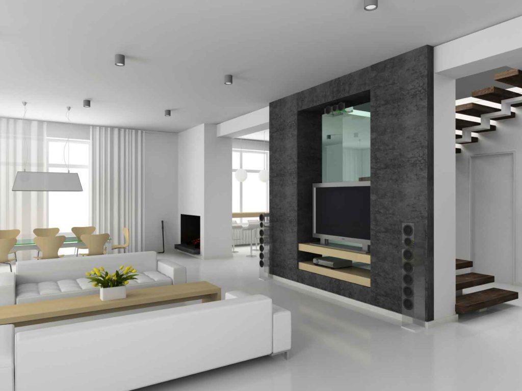 Das Wohnzimmer einer modernen Wohnung