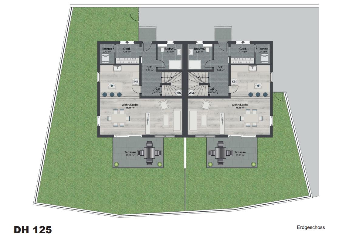 Hyggebau Layout Erdgeschoss - RECrowd