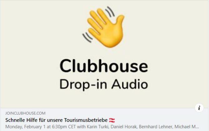 Clubhouse CONDA hilft Tourismus