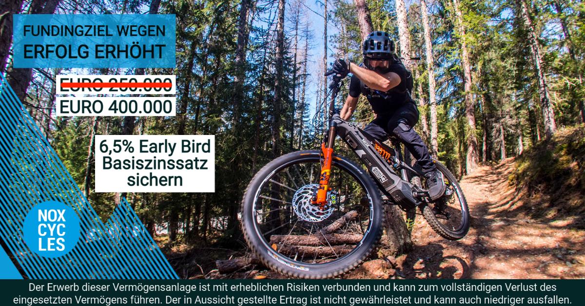 NOX Cycles - Fundingziel erhöht auf 400.000 - CONDA