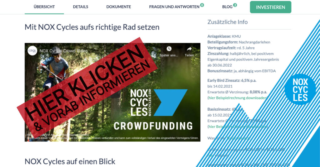 NOX Cycles - Hier klicken und Projektseite vorab ansehen - CONDA