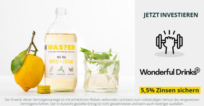 Jetzt investieren in Wonderful Drinks / Pona - bekannt aus Puls 4 - 2 Minuten 2 Millionen - CONDA