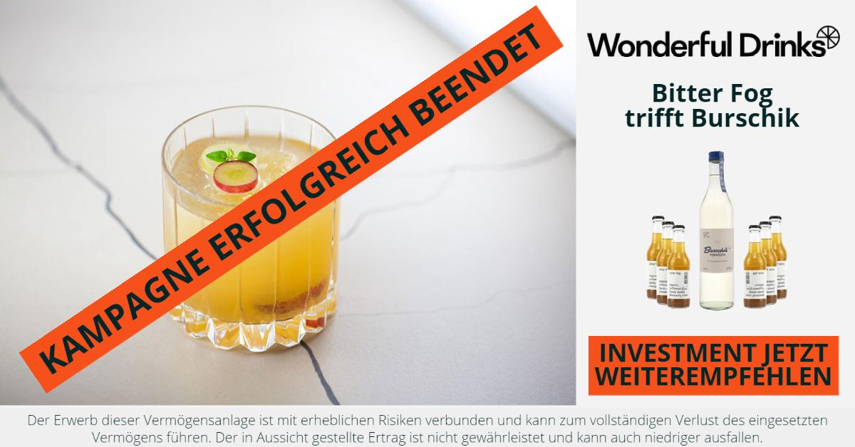 Wonderful Drinks - Jetzt Investment weiterempfehlen - CONDA