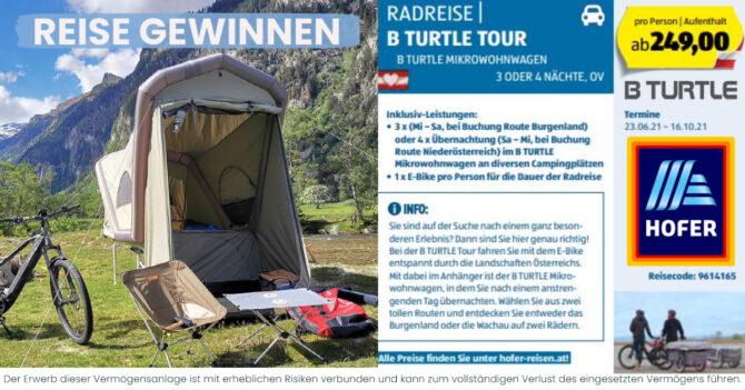 B TURTLE - Hofer Aldi Reise - Gewinn CONDA
