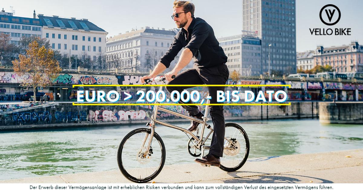VELLO Bike - 200.000 Euro - CONDA